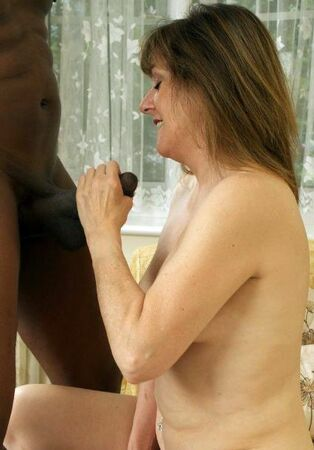 Multiracial enormous ebony spear cuckold, older wifey..