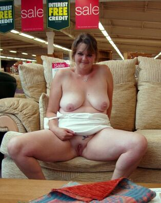 Fatty mature wife with face  by batter and nude at shop