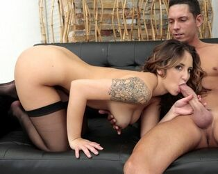 Tattooed porn industry starlet Layla London gets drilled..
