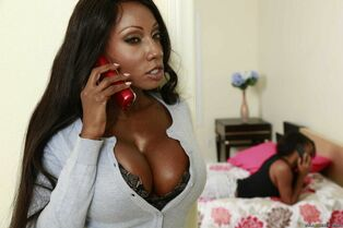 Huge-titted black mother takes him aside and embarks..